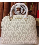 NWT MICHAEL Michael Kors Cindy Large Dome Satch... - $246.05