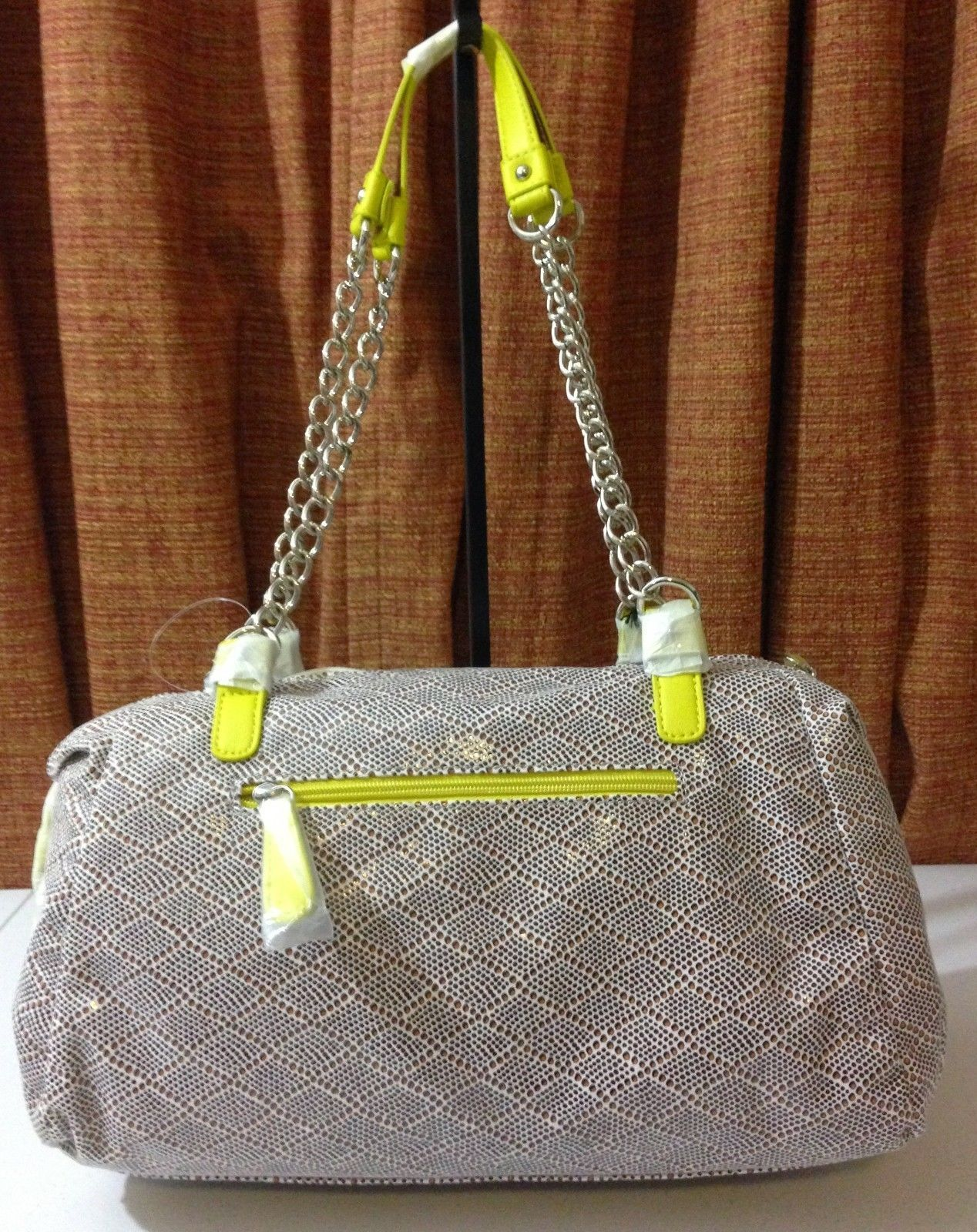 NWT Kathy Van Zeeland Love Letter Satchel Diamond Dot White $99