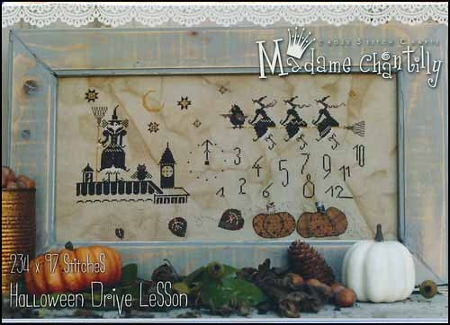 Primary image for Halloween Drive Lesson cross stitch chart Madame Chantilly