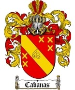 Cabanas Family Crest / Coat of Arms JPG or PDF Image Download - $6.99