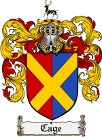 Primary image for Cage Family Crest / Coat of Arms JPG or PDF Image Download