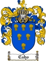Primary image for Caho Family Crest / Coat of Arms JPG or PDF Image Download