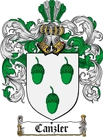 Primary image for Canzler Family Crest / Coat of Arms JPG or PDF Image Download