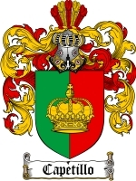 Primary image for Capetillo Family Crest / Coat of Arms JPG or PDF Image Download