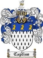 Primary image for Caplins Family Crest / Coat of Arms JPG or PDF Image Download