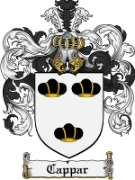 Primary image for Cappar Family Crest / Coat of Arms JPG or PDF Image Download