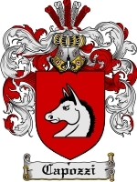 Primary image for Capozzi Family Crest / Coat of Arms JPG or PDF Image Download
