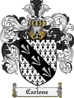 Primary image for Carlone Family Crest / Coat of Arms JPG or PDF Image Download