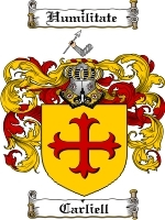 Primary image for Carliell Family Crest / Coat of Arms JPG or PDF Image Download