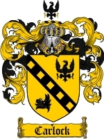 Primary image for Carlock Family Crest / Coat of Arms JPG or PDF Image Download