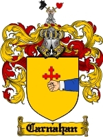 Primary image for Carnahan Family Crest / Coat of Arms JPG or PDF Image Download