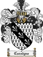 Primary image for Carolyne Family Crest / Coat of Arms JPG or PDF Image Download