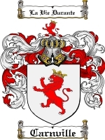 Primary image for Carnville Family Crest / Coat of Arms JPG or PDF Image Download