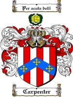 Primary image for Carpenter Family Crest / Coat of Arms JPG or PDF Image Download