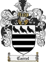 Primary image for Carrel Family Crest / Coat of Arms JPG or PDF Image Download