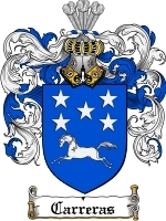 Primary image for Carreras Family Crest / Coat of Arms JPG or PDF Image Download