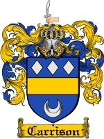 Primary image for Carrison Family Crest / Coat of Arms JPG or PDF Image Download