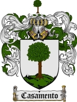 Primary image for Casamento Family Crest / Coat of Arms JPG or PDF Image Download