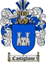 Primary image for Castiglione Family Crest / Coat of Arms JPG or PDF Image Download