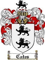 Primary image for Cates Family Crest / Coat of Arms JPG or PDF Image Download