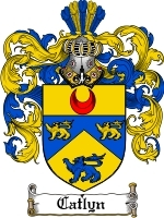 Primary image for Catlyn Family Crest / Coat of Arms JPG or PDF Image Download