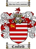 Primary image for Caufield Family Crest / Coat of Arms JPG or PDF Image Download