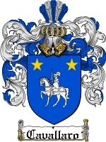 Primary image for Cavallaro Family Crest / Coat of Arms JPG or PDF Image Download