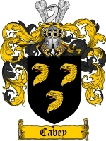 Primary image for Cavey Family Crest / Coat of Arms JPG or PDF Image Download