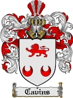 Primary image for Cavins Family Crest / Coat of Arms JPG or PDF Image Download