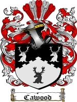 Primary image for Cawood Family Crest / Coat of Arms JPG or PDF Image Download