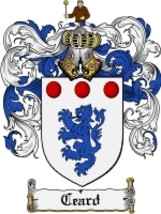 Ceard Family Crest / Coat of Arms JPG or PDF Image Download - $6.99