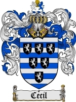 Primary image for Cecil Family Crest / Coat of Arms JPG or PDF Image Download