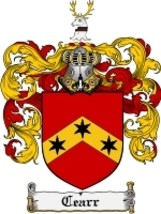 Cearr Family Crest / Coat of Arms JPG or PDF Image Download - $6.99