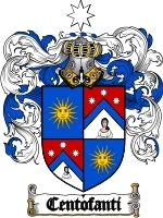 Primary image for Centofanti Family Crest / Coat of Arms JPG or PDF Image Download