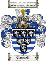 Primary image for Cessell Family Crest / Coat of Arms JPG or PDF Image Download