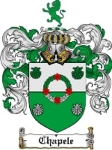Chapele Family Crest / Coat of Arms JPG or PDF Image Download - $6.99