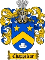 Primary image for Chappelear Family Crest / Coat of Arms JPG or PDF Image Download