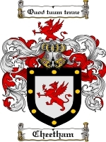 Primary image for Cheetham Family Crest / Coat of Arms JPG or PDF Image Download