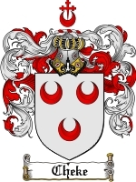 Primary image for Cheke Family Crest / Coat of Arms JPG or PDF Image Download