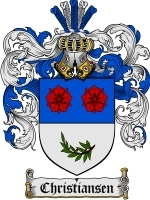Christiansen Family Crest / Coat of Arms JPG or PDF Image Download