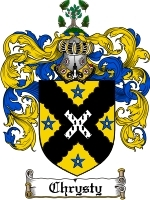 Primary image for Chrysty Family Crest / Coat of Arms JPG or PDF Image Download