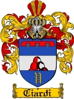 Ciardi Family Crest / Coat of Arms JPG or PDF Image Download