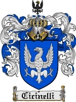 Primary image for Cicinelli Family Crest / Coat of Arms JPG or PDF Image Download