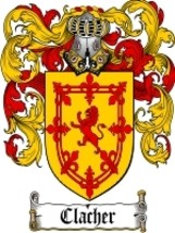 Clacher Family Crest / Coat of Arms JPG or PDF Image Download - $6.99