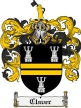 Claver Family Crest / Coat of Arms JPG or PDF Image Download - $6.99