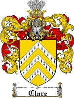 Primary image for Clare Family Crest / Coat of Arms JPG or PDF Image Download