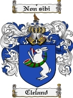 Primary image for Cleland Family Crest / Coat of Arms JPG or PDF Image Download