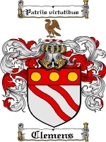 Primary image for Clemens Family Crest / Coat of Arms JPG or PDF Image Download