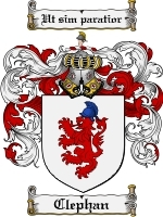 Primary image for Clephan Family Crest / Coat of Arms JPG or PDF Image Download