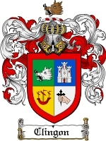 Primary image for Clingon Family Crest / Coat of Arms JPG or PDF Image Download